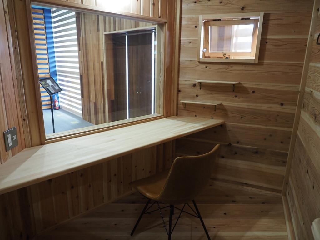 集中できる小屋スペース